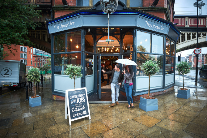 LinkedIn takes its experiential pop-up pub on the road to